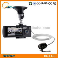 X3000 2.7 hd car camera dual camera with gps g-sensor car dvr camera dvr