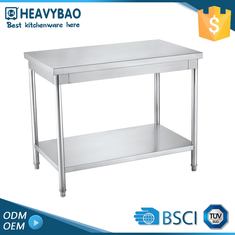 Heavybao Stainless Steel Knocked-down Metal Frames Asian Garden Table Sale For Tables