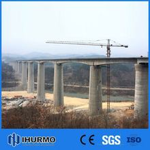 Quick Delivery safe driving 60m jib length tower crane with 60m jib