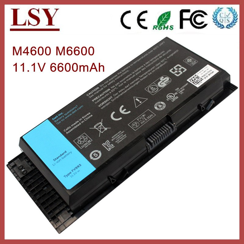 Replacement laptop battery for dell Precision M4600 M4700 M6700 M6600 battery 3DJH7 97KRM 9GP08 FV993 KJ321 PG6RC R7PND X57F1