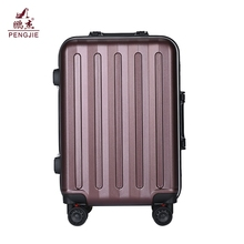 high quality 03 PC ABS hard shell luggage case fashion aluminium frame suitcases