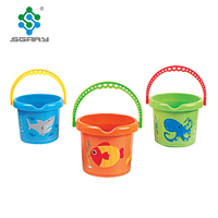 New Design Mini Plastic Cartoon Beach Bucket Toy for Kids