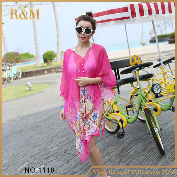 Hot Selling New Design see through beach cover up