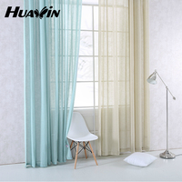 Hot sell simple faux linen curtain for living room,cheap sheer linen curtain fabric