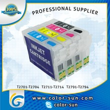 2015 new arrival refillable ink cartridge for epson WF-3620DWF with BK C M Y 4 colors