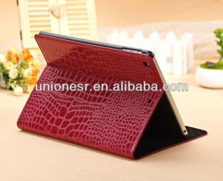Accept paypal crocodile pattern leather case for ipad 2 3 4 5 air