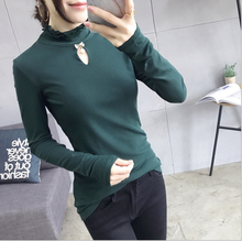 Spring decoration new high double - layer lotus leaf collar hollowed-out European and American women casual shirt long sleeve