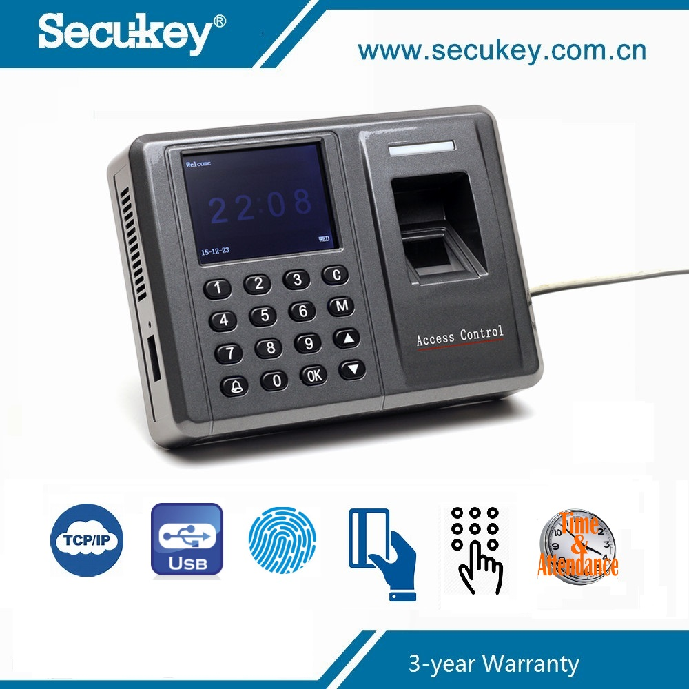 Secukey TFT Fingerprint biometric face recognition time attendance system