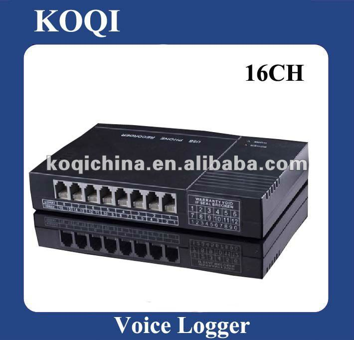 USB Voice Recorder/caller id box for max 16 phones recording