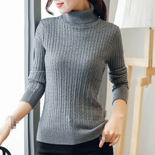 cheap price ladies clothing high collar women's sweater