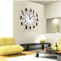 Basketball Silhouette clock wall stickers vinyl wall clock sticker decorative wall clock sticker