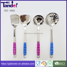 Tander online shopping stainless steel plastic kitchen tools set cooking ware