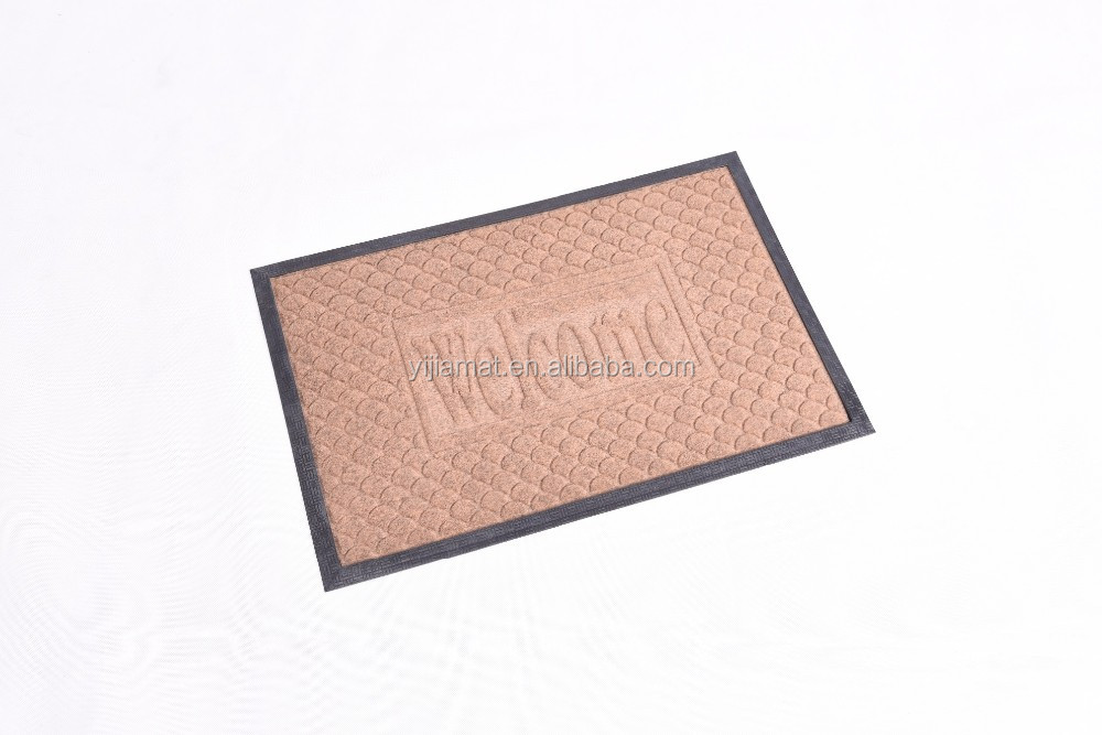 rubber embossed mat