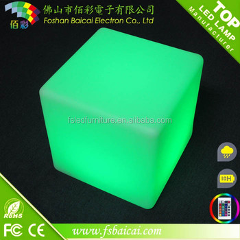 New Trending 16 Colors Changing Waterproof Mini LED Lights, LED Cube Seat Lighting