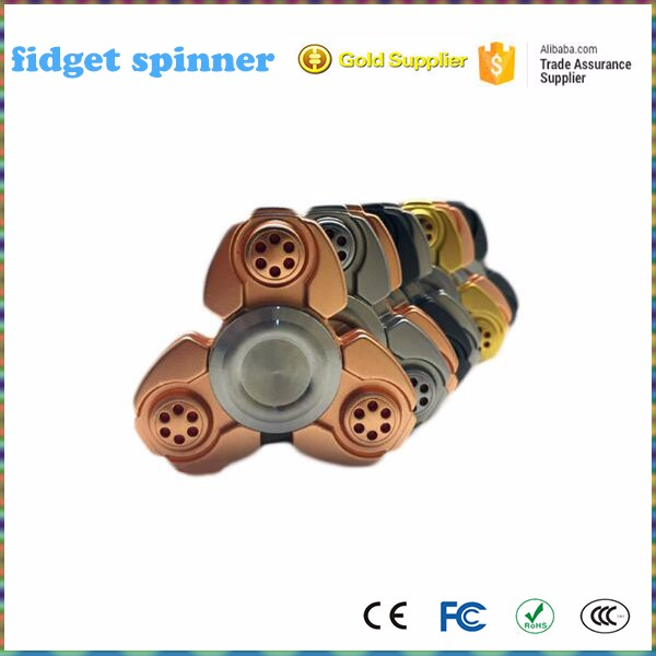 Mini Alloy Tri Fidget Toy Ceramic Ball Bearing Tri Spinner High Speed Hand Fidget Spinner