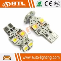 Latest high bright 5050 led chip CANBUS T10 reverse polarity protection warm white led auto lamp