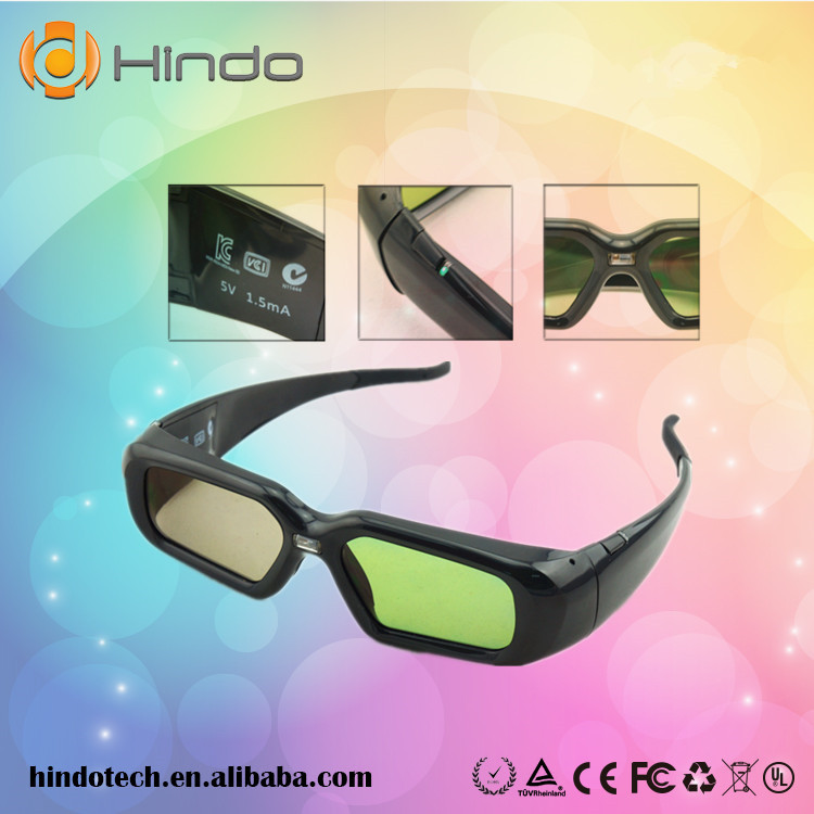 Hindotech NX30 DLP-Link 3D glasses 96~144hz For Optoma/BenQ/ Acer DLP 3D projector