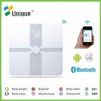 Professional Accurate LED Display Bluetooth Digital 180kg 400lb Bathroom Measuring Weight Body Fat Analyser Scales