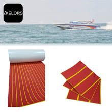 Melors 90in x 35in Swimming Pool Teak EVA Marine Flooring Material Non Skid Pads For Boats
