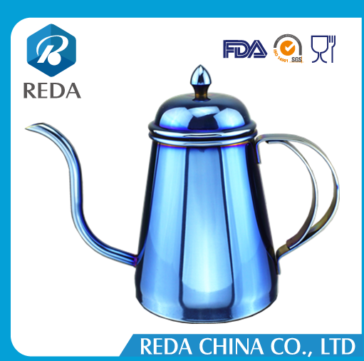 Wholesale 750 ml Stainless Steel Bule Coffee Drip Pot and Tea Kettle