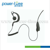 Walkie Talkie earphone jack accessory with Curl wire for Hotel, Walmart Staff.