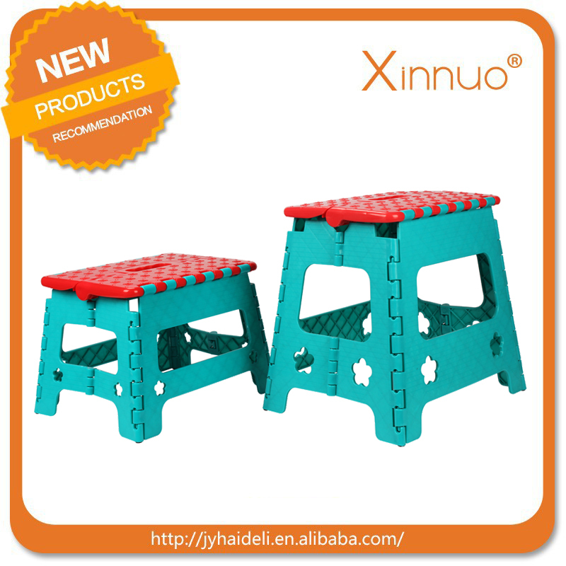 Hot sale plastic folding step stool foldable chair plastic folding stool