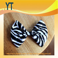 Black And White Zebra Style Medium Size Bowknot Hair Bow For Girl,Silk Bows