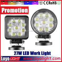 27w DC 12V 24V Waterproof Led Work Lights For Trucks And Heavy Duty Vehicles