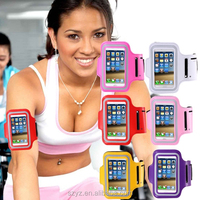 Sports Armband Durable Smartphone Pouch case For Iphone 5 5S 5C Waterproof Mobile Phone Bag 10 colors