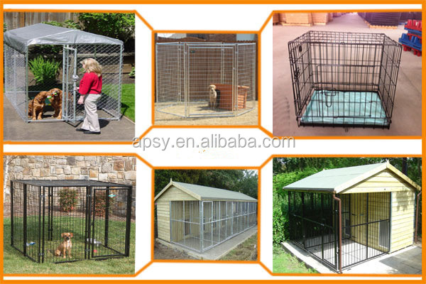 New heavy-duty outdoor dog kennel steel pet exercise train play large cage house