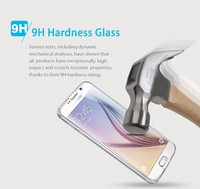 Reliable size for samsung galaxy s6 edge tempered glass, new glass cover for Samsung Galaxy S6 edge retail package