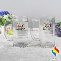 customized glass 350ml drinking glass cup with cold color changing
