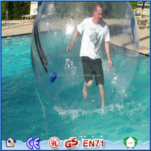 Guangzhou human hamster water balls inflatable water walker tpu ball human sphere ,jumbo water ball