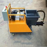 China Wall Grouting Cement Mortar Putty Spraying Plastering Machine