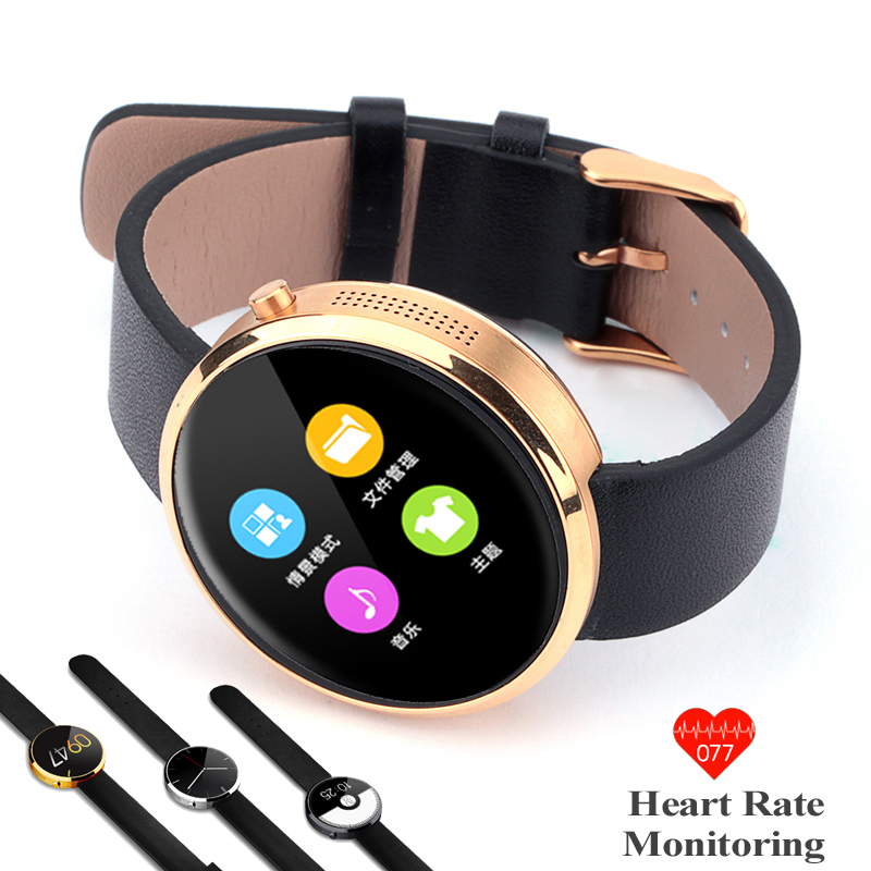 DW360 2 MTK2502 Smart Watch with Bluetooth 4.0 Heart Rate Tracker IPS 360 Screen PK bluetooth Smart Watch DM360 V360