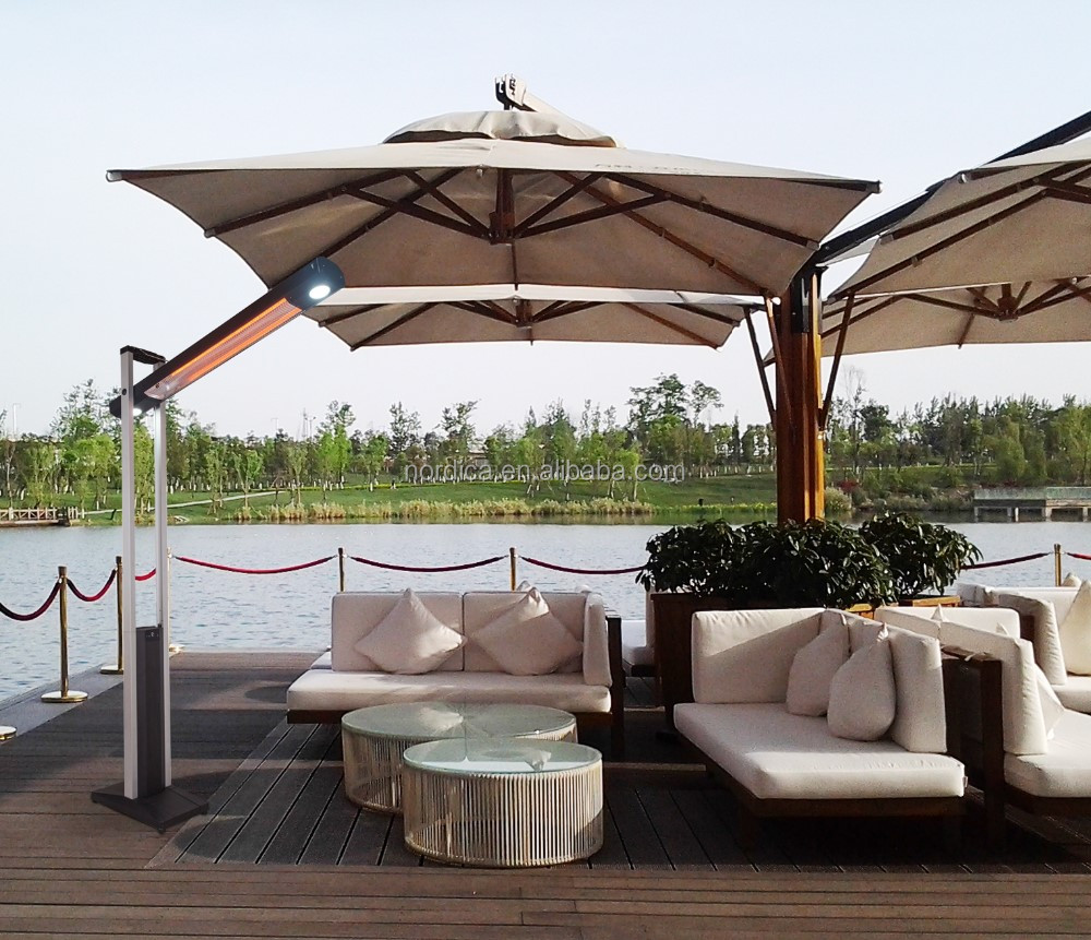lectrique infrarouge chauffe debout en plein air deux fa ons t l commande chauffe terrasse ip34. Black Bedroom Furniture Sets. Home Design Ideas