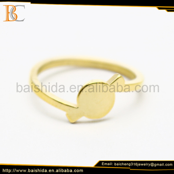 dubai fashion jewelry gold ring price Baicheng stainless steel jewelry