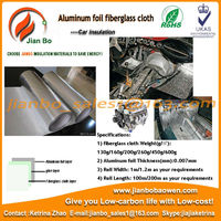 Fiberglass cloth heat shield aluminum foil