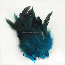 Factory Direct Cheap sale Garment and hair hats decoration10-20cm Dyed Rooster Tail Feathers