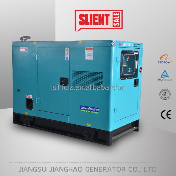 price 20kva soundproof diesel generator with yangdong engine