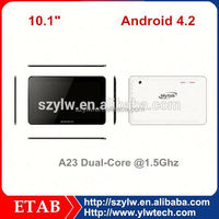 A23 dual core 1024*600 Screen 0.3+2.0 camera cheap china android tablet