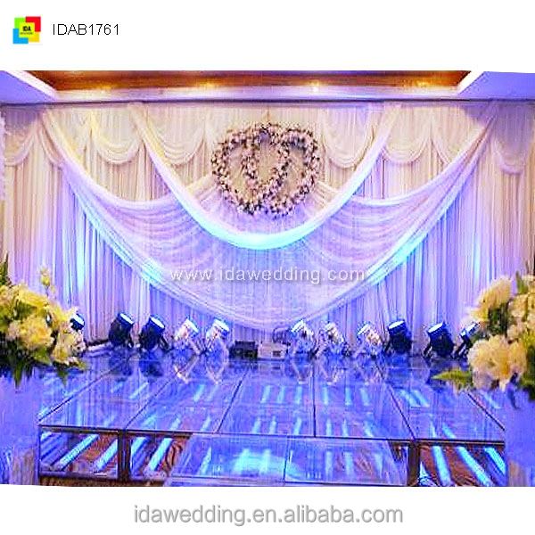 fabric curtain drapery/waterfall backdrop/wedding decoration materials