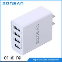 4 USB Wall Charger for iphone 5 5s 5c 6 6plus 6s charger, Multi Port USB Charger Wholesale OEM