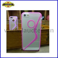 2012 New Clear TPU+PC Phone Case,Special TPU Gel Cover Case for Apple IPhone 5 5G