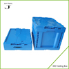 Lid attached plastic collapsing folding crate