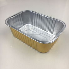 750ml 1.65lb Sealable smooth wall heat sealing aluminum foil food packaging lunch box food container