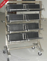 Antistatic trolley SMTmachine ESD PCB hanging basket cart with lower price for PCBA