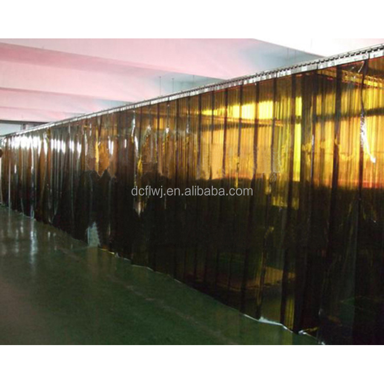 Multi types and shapes served yellow color polar vinyl strip doors /cold room pvc strip curtain