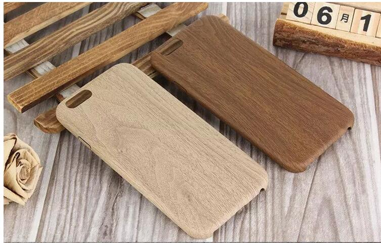 Wooden Pattern blank wood PU Leather Protector Back Cover cell phone Case for iPhone 7