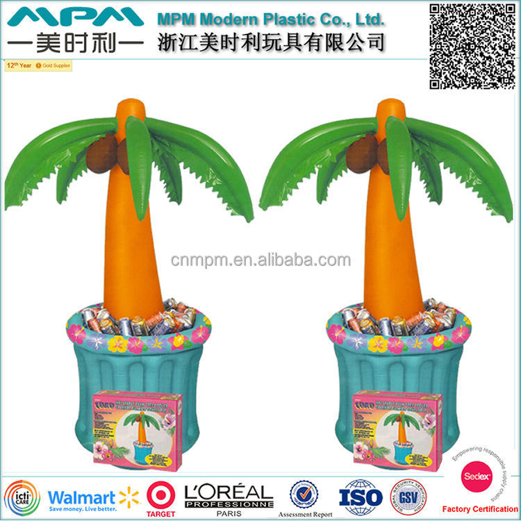 Promotional Inflatable palm tree ice bucket